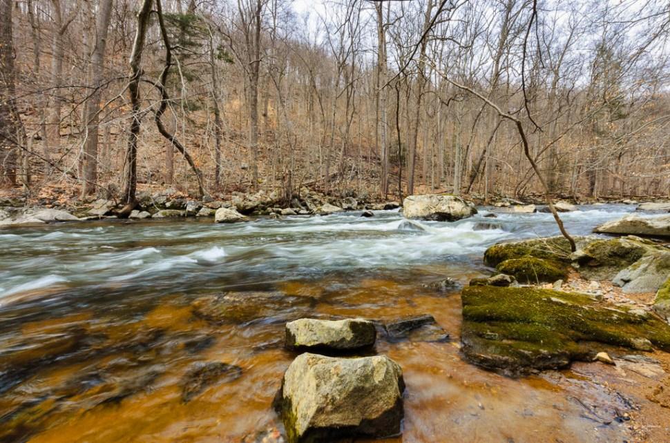 Ken Lockwood Gorge with water floweing over rocks