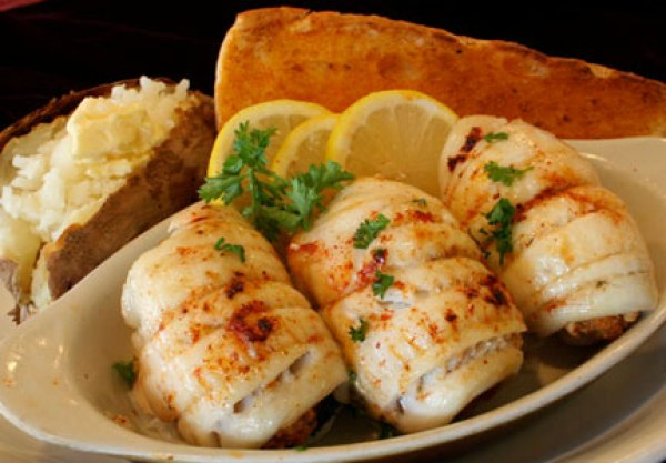 crab stuffed flounder roll-ups