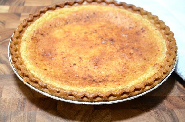 Recipe for Maple Custard Pie