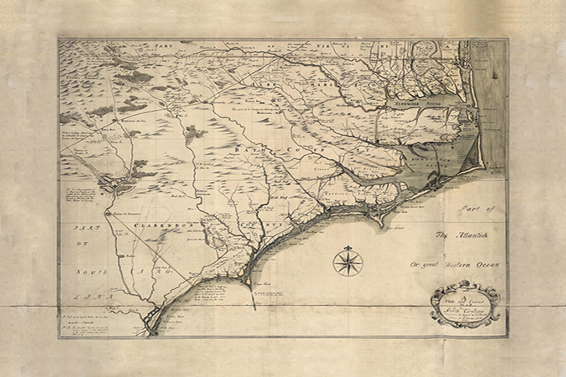 Historic North Carolina Coastal Map