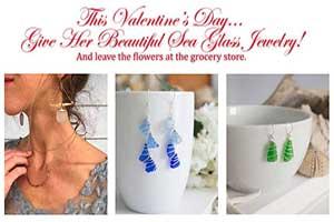 Sea Glass Jewelry Valentines Day