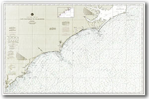 Nautical Chart of NC Coast & Waters