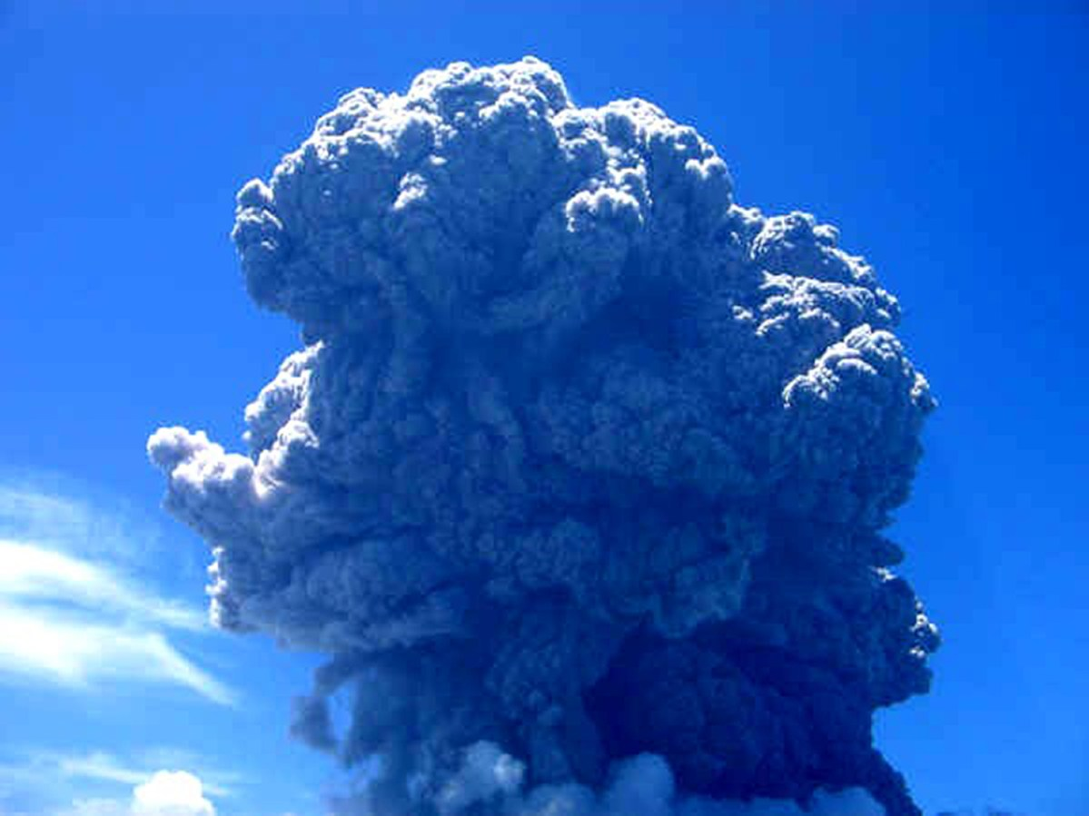 Image result for La Soufriere eruption in SVG