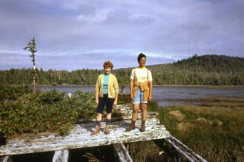 Lagoon, probably closer to the dykes. Phyllis Hill on left (red hair)