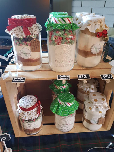variety of cookie mixes in a jar made by Island Reveries