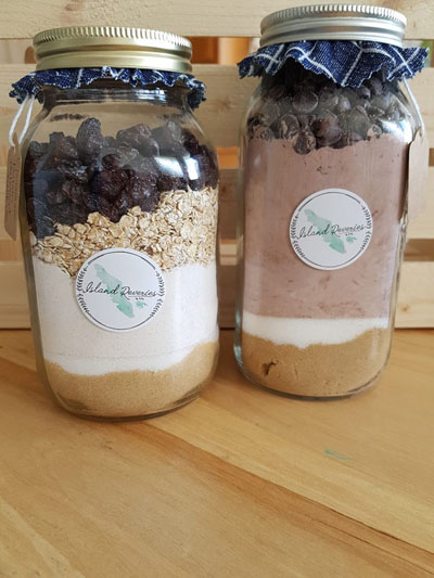 cookie mixes in a jar, made on Vancouver Island by Island Reveries