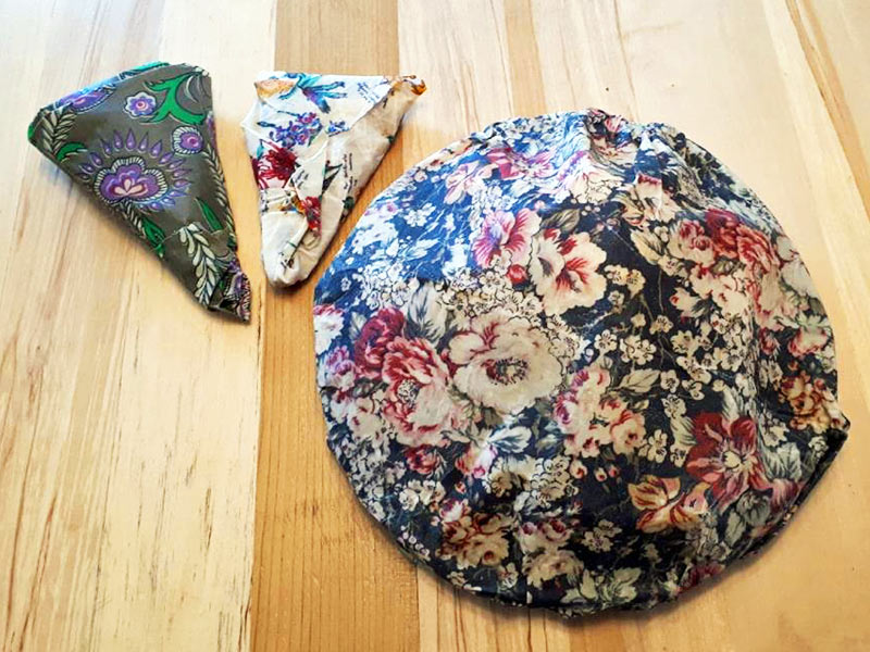 food wrapped with beeswax wraps made on Vancouver Island by Island Reveries