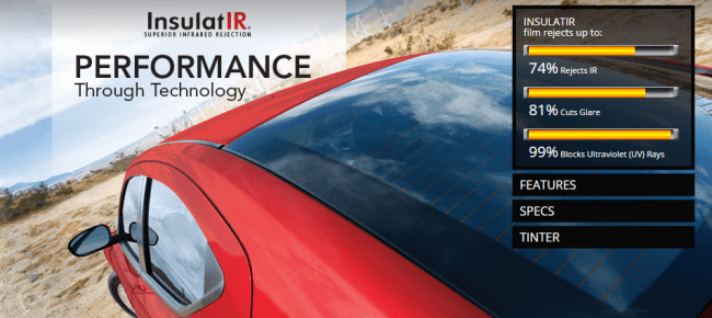 Insulatir AUTOMOTIVE Johnson Window Films