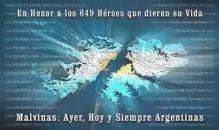 Malvnas honos a los 649 heroes caídos