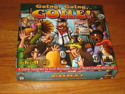 The game box for Going Going Gone