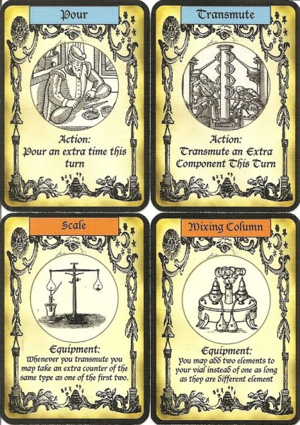 Alchemy prototype cards.