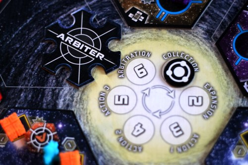 The phase tracker is conveniently in the center of the board