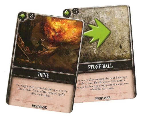 Response cards can be particularly fun to stop your foe - or frustrating when used against you! Make sure to save back some resources to be able to cast one, just in case.