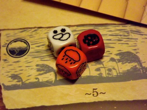 Robinson Crusoe Weather dice