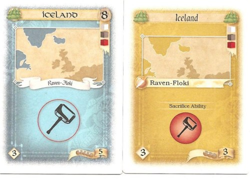 The new Iceland location card (left) to replace the old (right).