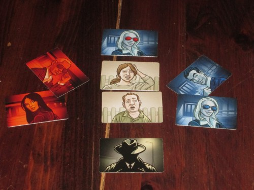 The spymasters use these cards to reveal to the other players the identity of the agent they've just contacted.