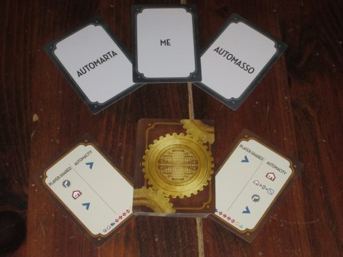 Cards for a solitaire game come standard with the game. The solitaire game is a lot of fun to play and difficult to win.