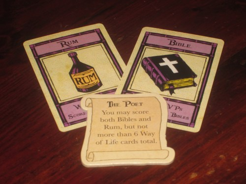 Way of life cards allow a player to score one or the other but not both (unless you are the poet--I love the flavor here).