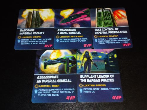 Galactic Rebellion Covert Mission Cards