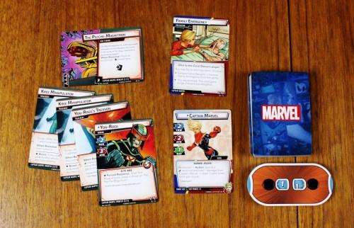 Captain Marvel character card, obligation, and nemesis set