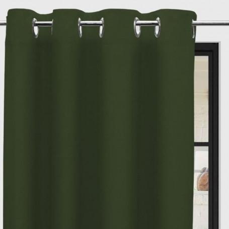 soleil d ocre rideau a oeillets panama 135 x 250 cm vert