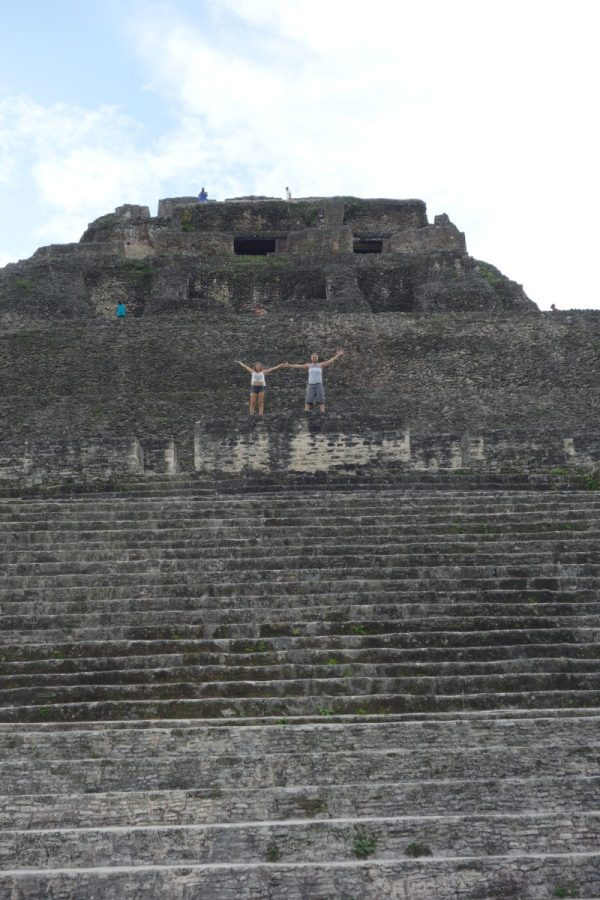 Showing my nephew the best of Belize. Xunantunich, Cayo, Belize