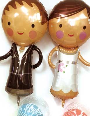 結婚祝いバルーン電報