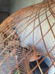 Woven bamboo light