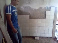Bathroom tile just starting