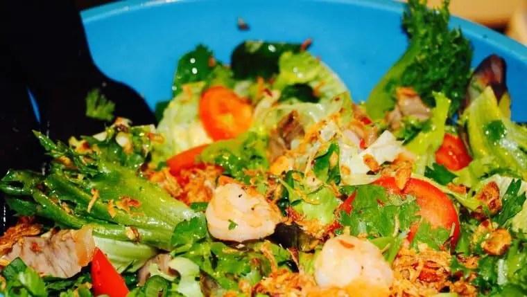 Asian Beef and Prawn Salad
