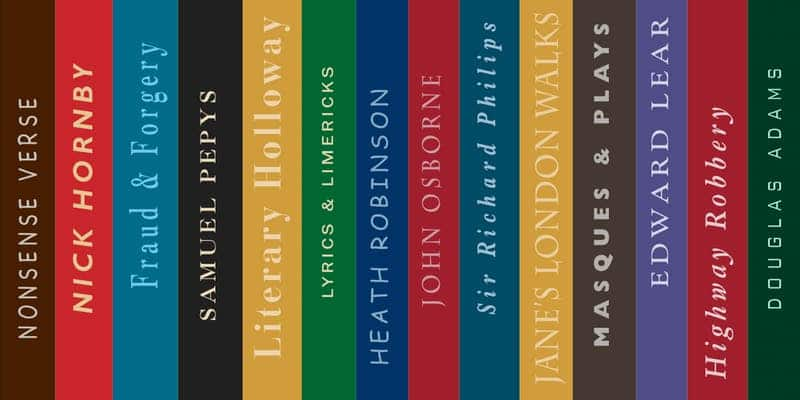 Picture of different book spines