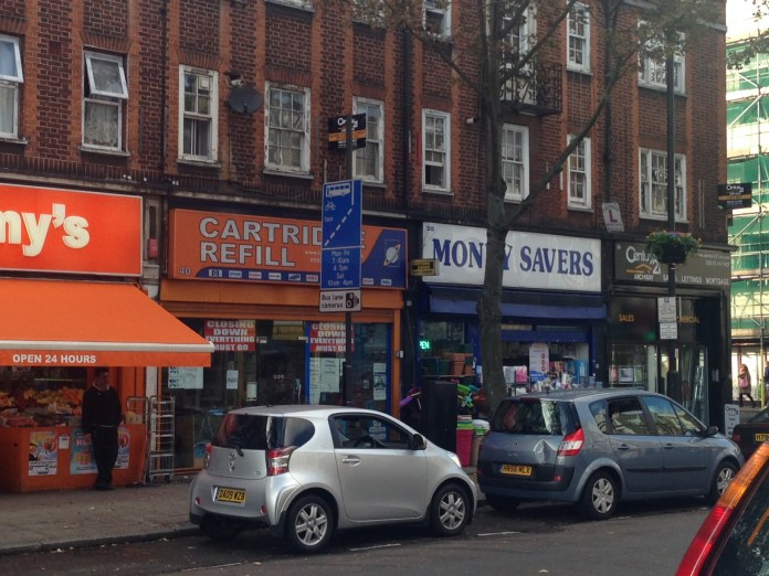Shops on Junction Road near Archway Station