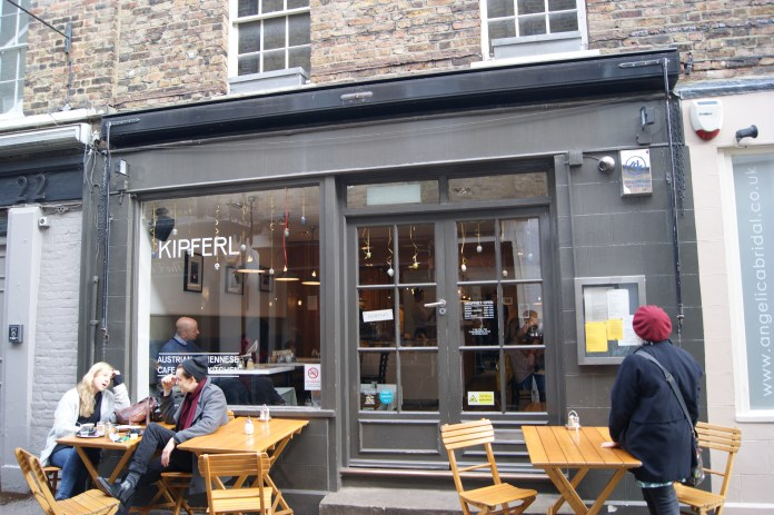 The front of Kipferl, Islington's Viennese café