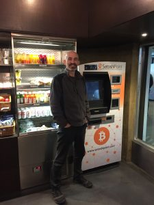 An in-store ATM where you can buy cryptocurrencies including Bitcoin