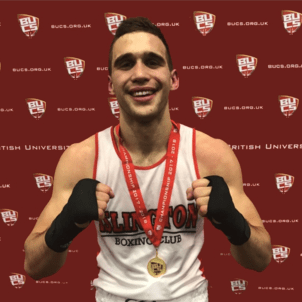 Islington Boxing Club's Slavisa Bilic, undefeated, won the BUCS boxing championship last month