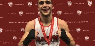 Islington Boxing Club's Slavisa Bilic, undefeated, won the BUCS boxing championship last month