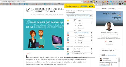 social analytics 10 extensiones de chrome para bloggers ismael ruiz gonzalez
