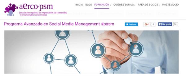 aerco-psm formacion online en redes sociales