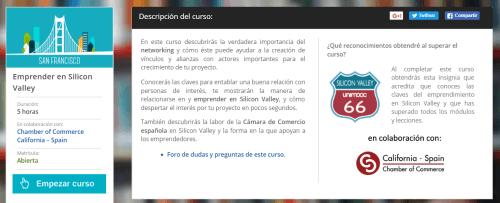 curso emprendedor sillicon valley
