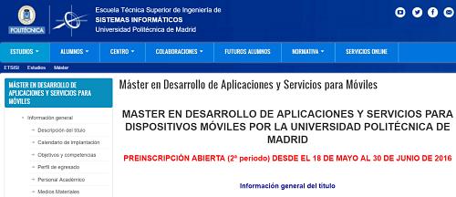 curso universidad de madrid apps