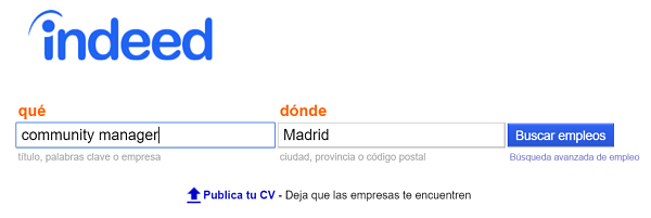 indeed ofertas de empleo community manager