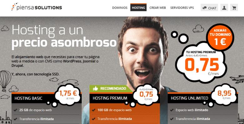 piensa solutions mejor hosting pagina web