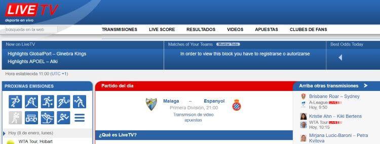 livetv partidos futbol online
