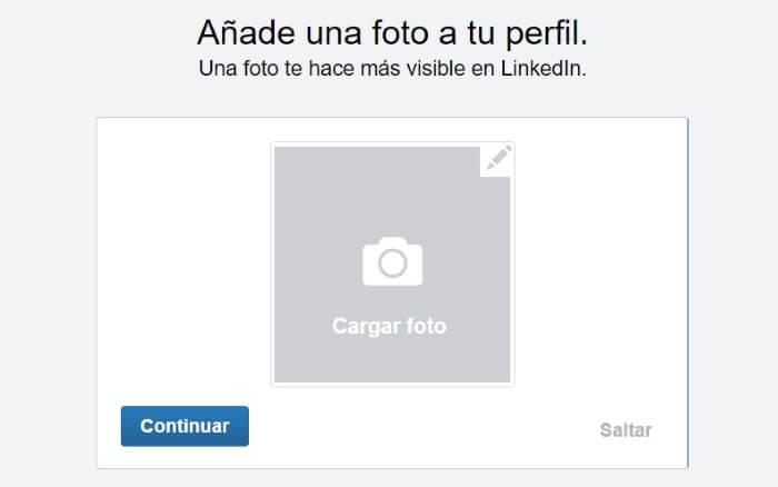 añadir foto de perfil en linkedin
