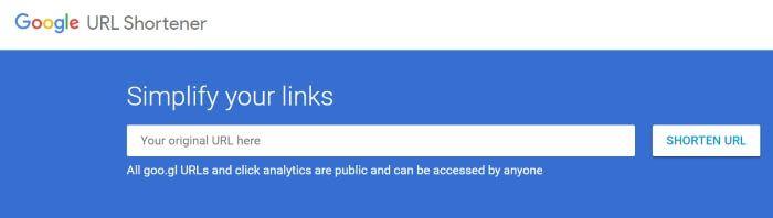 google shortener acortador de google