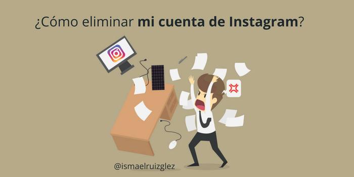 como eliminar una cuenta de instagram gratis