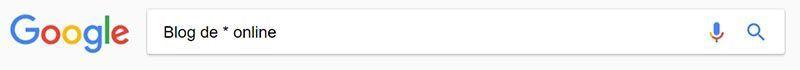 Usa palabras comodín en tu búsqueda (*)