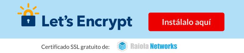 Certificado SSL gratuito de Raiola Networks