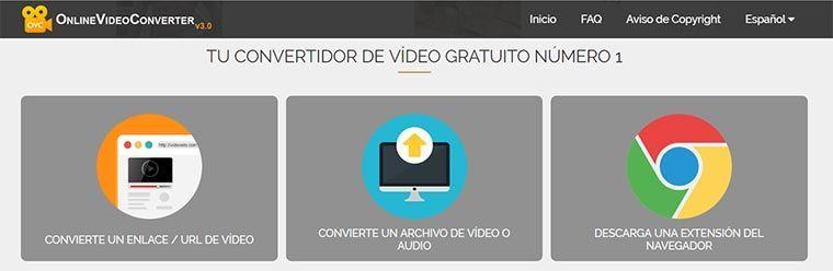 ¿Cómo puedo convertir archivos audiovisuales con Online Video Converter?
