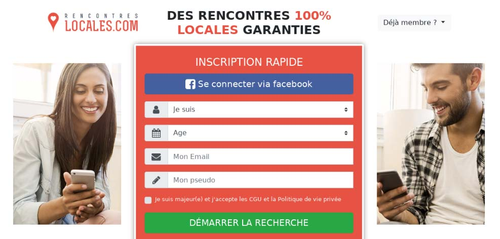 Contacto Locales, Web seria para conocer gente como tú